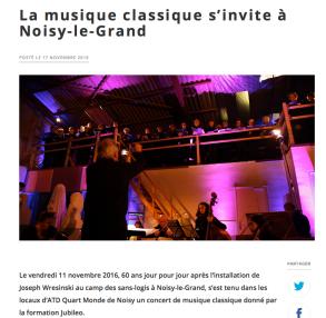 Concert de l'Ensemble Jubileo pour ATD Quart Monde